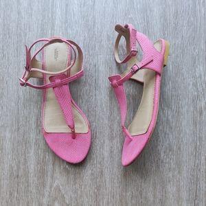 Zara Pink Snakeskin Sandals
